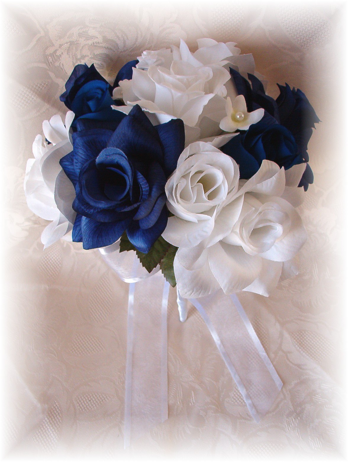 Beautiful white and blue wedding flowers gallery styles ideas silk wedding flowers silk bridal bouquets blue orchid white izmirmasajfo