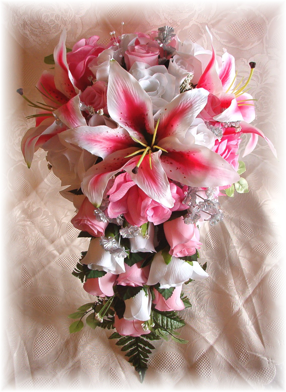 Pink White And Silver Wedding Flowers - Flowers Healthy